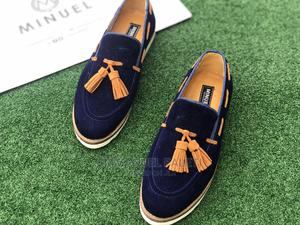 Blue Suede Loafers With White Sole and Brown Tassel Shoe   Shoes for sale in Lagos State, Mushin