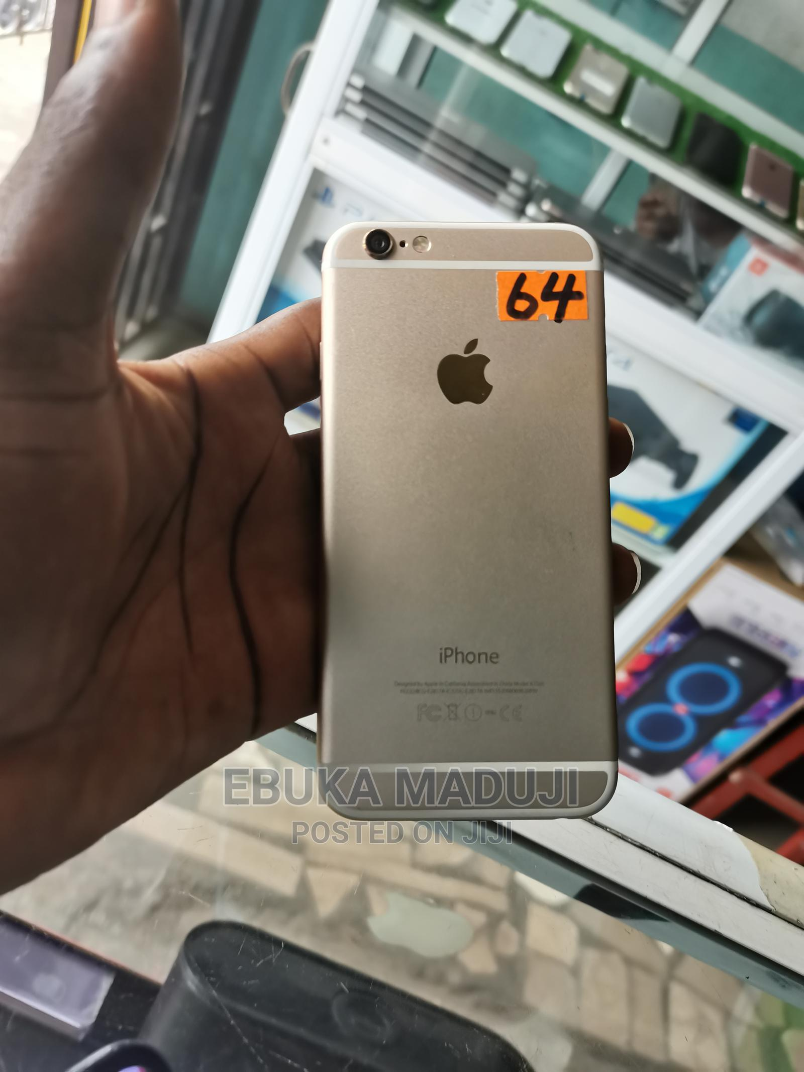 Apple iPhone 6 64 GB Gold | Mobile Phones for sale in Ikeja, Lagos State, Nigeria