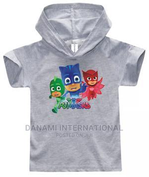 PJ Masks Children Hooded T-Shirt- Light Grey   Children's Clothing for sale in Lagos State, Ikeja