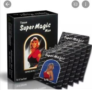 Super Magic Man Long Lasting/Delay Ejaculation Tissue. | Sexual Wellness for sale in Lagos State, Mushin