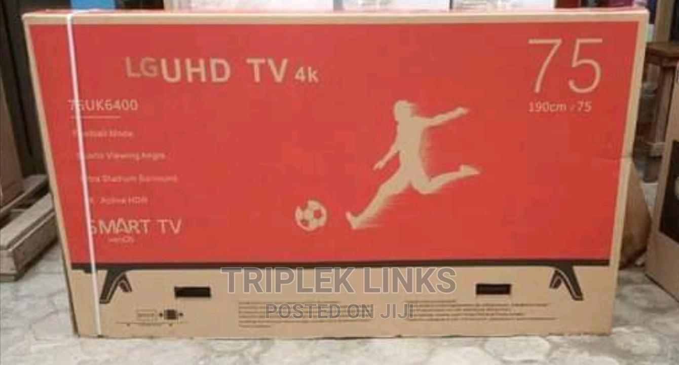 LG 75 Inches UHD TV 4k Smart Tv | TV & DVD Equipment for sale in Ojo, Lagos State, Nigeria