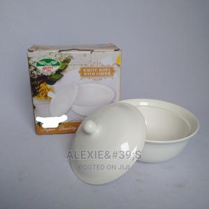 White Porcelain Bowl With Cover | Kitchen & Dining for sale in Abuja (FCT) State, Kubwa