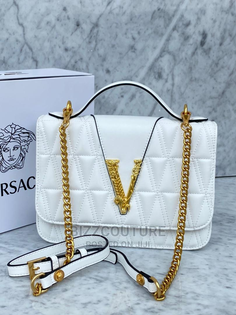 High Quality Versace White Leather Bags for Ladies