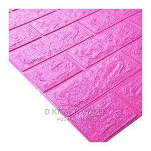 10PCS Pe Foam 3d Self Adhesive Brick Wallpaper Sticker Pink   Home Accessories for sale in Lagos State, Ikotun/Igando