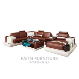 U Shape Leather Sofa With Center Table | Furniture for sale in Lagos State, Lekki