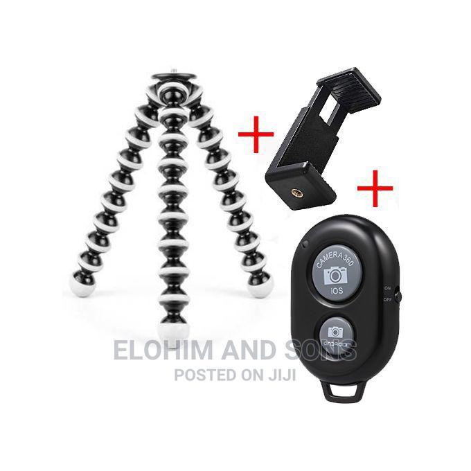 Archive: Flexible Mini Tripod Stand+ E-Clip +Free Bluetooth Remote