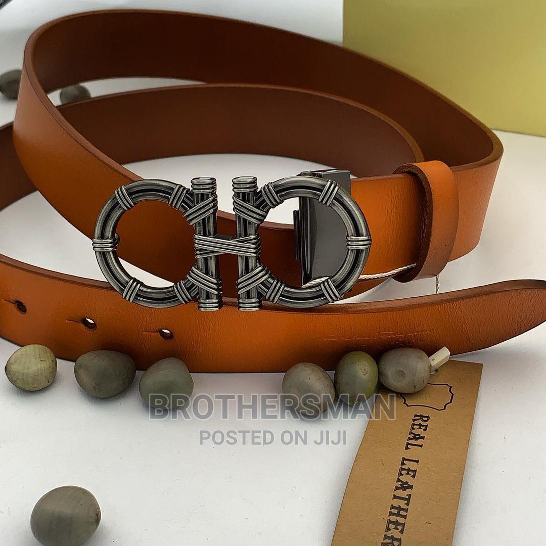 Salvatore Ferragamo Leather Belt Brown