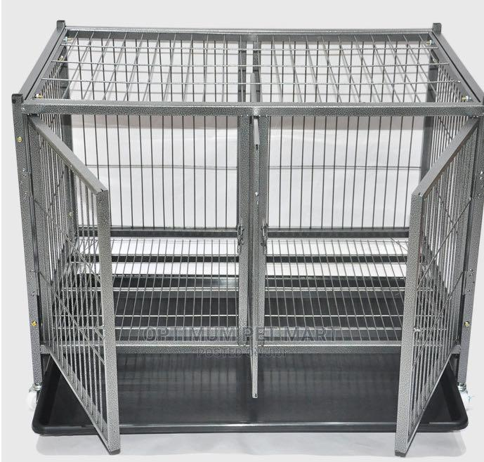 Double Door Metal Cage