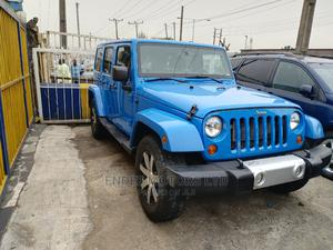 Jeep Wrangler 2013 Unlimited Sahara Blue   Cars for sale in Lagos State, Ikeja