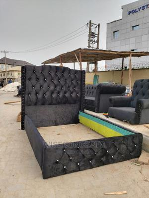 4nd Half by 6 Upholstery Bed Frame | Furniture for sale in Lagos State, Amuwo-Odofin