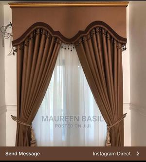 Chocolate Brown Curtain With Board   Home Accessories for sale in Lagos State, Oshodi