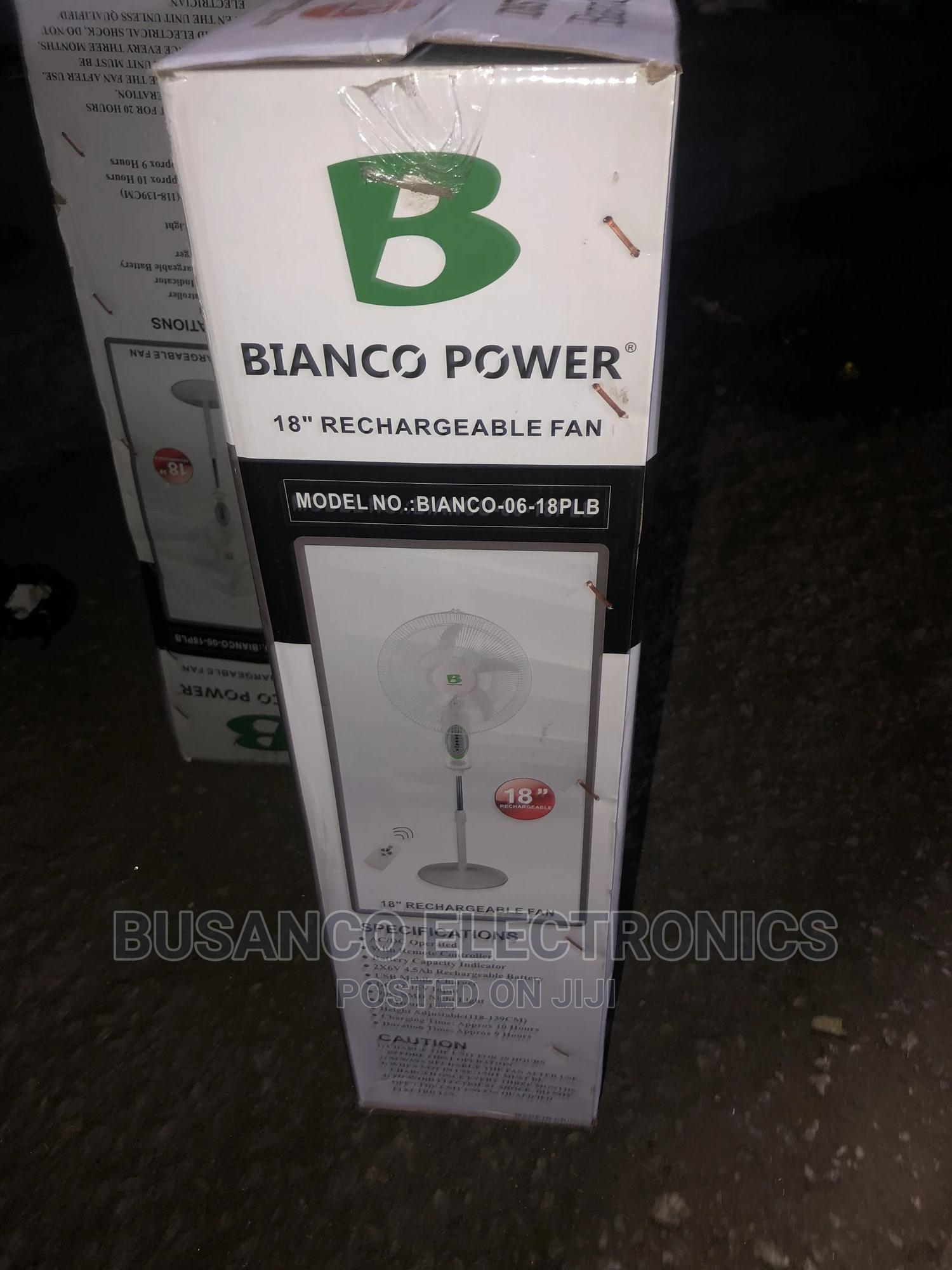 Bianco 18inchs Rechargeable Standing Fan