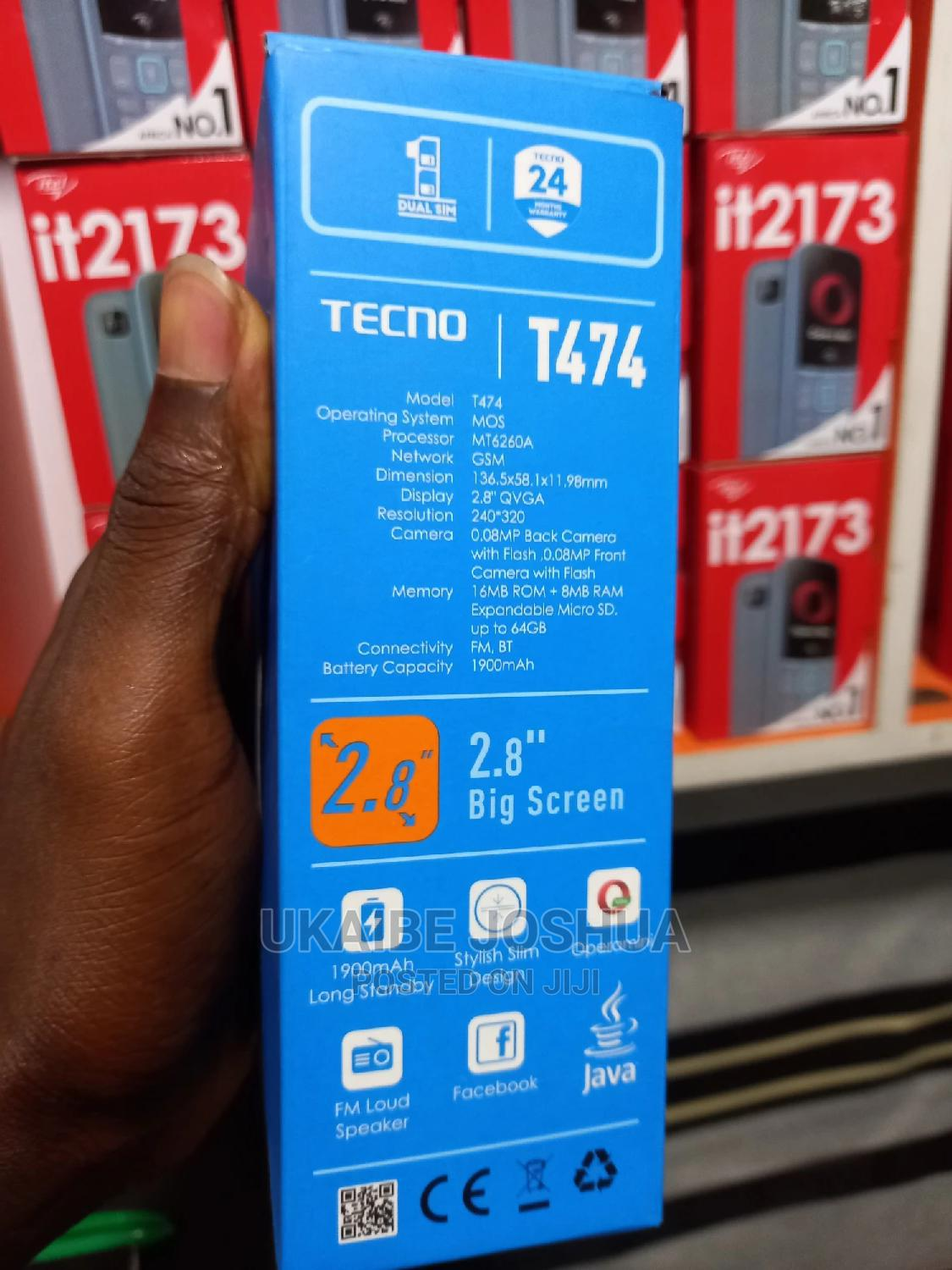New Tecno T474 Gold | Mobile Phones for sale in Ikeja, Lagos State, Nigeria