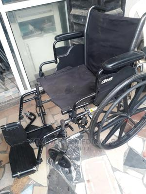 Manual Foldable Wheelchair   Medical Supplies & Equipment for sale in Lagos State, Mushin