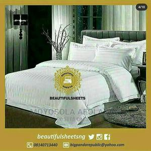 White Coloured,2 Fittedbedsheets and 4pillowcases(7by7) | Home Accessories for sale in Lagos State, Agboyi/Ketu