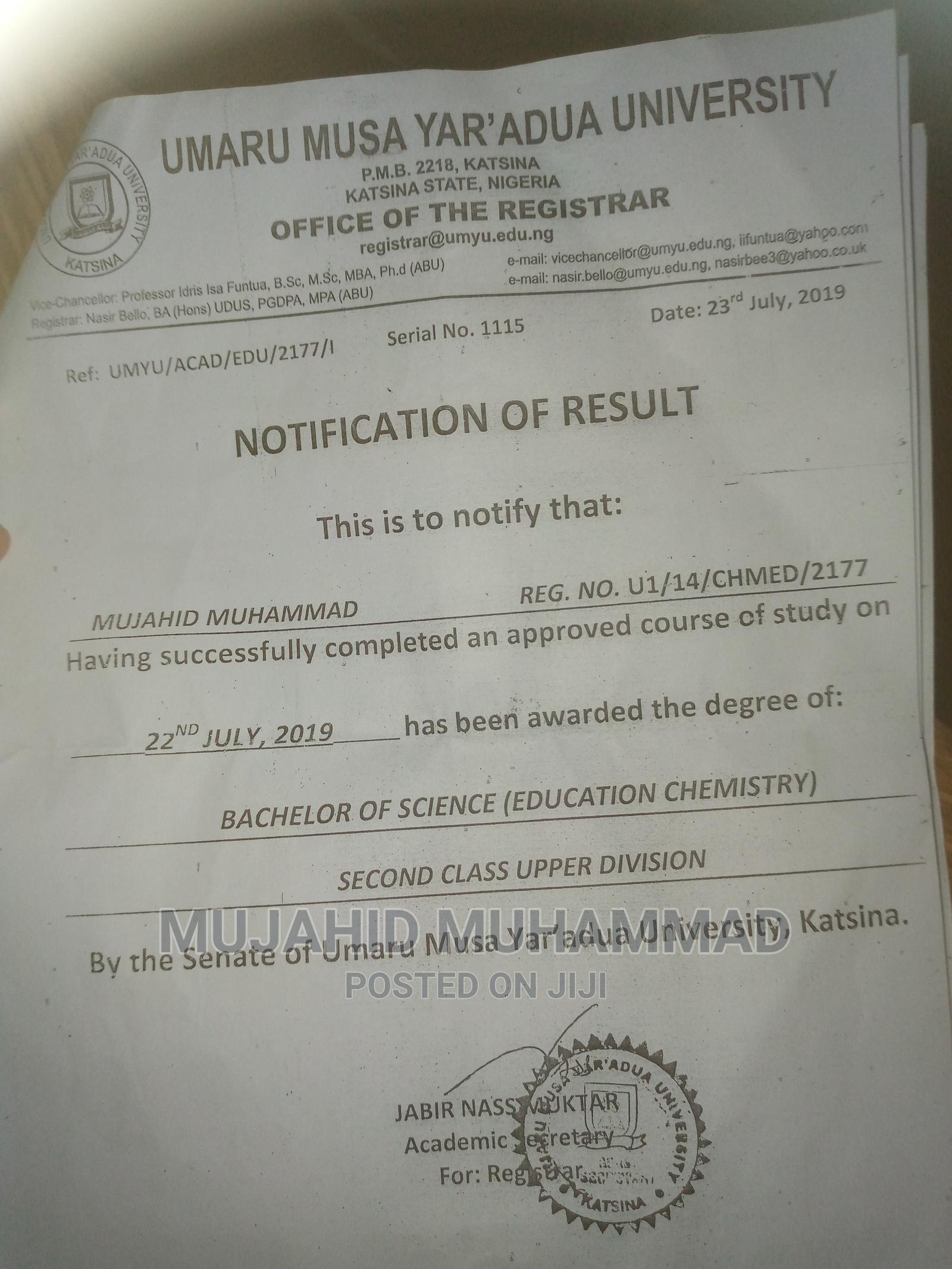 Internship CV | Hotel CVs for sale in Oyo, Oyo State, Nigeria