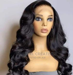 """Bouncy Curl Hair With Frontal 22"""" Inches Wig   Hair Beauty for sale in Lagos State, Surulere"""