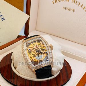 Franck Muller Automatic Full Ice Rose Gold Leather Watch   Watches for sale in Lagos State, Lagos Island (Eko)
