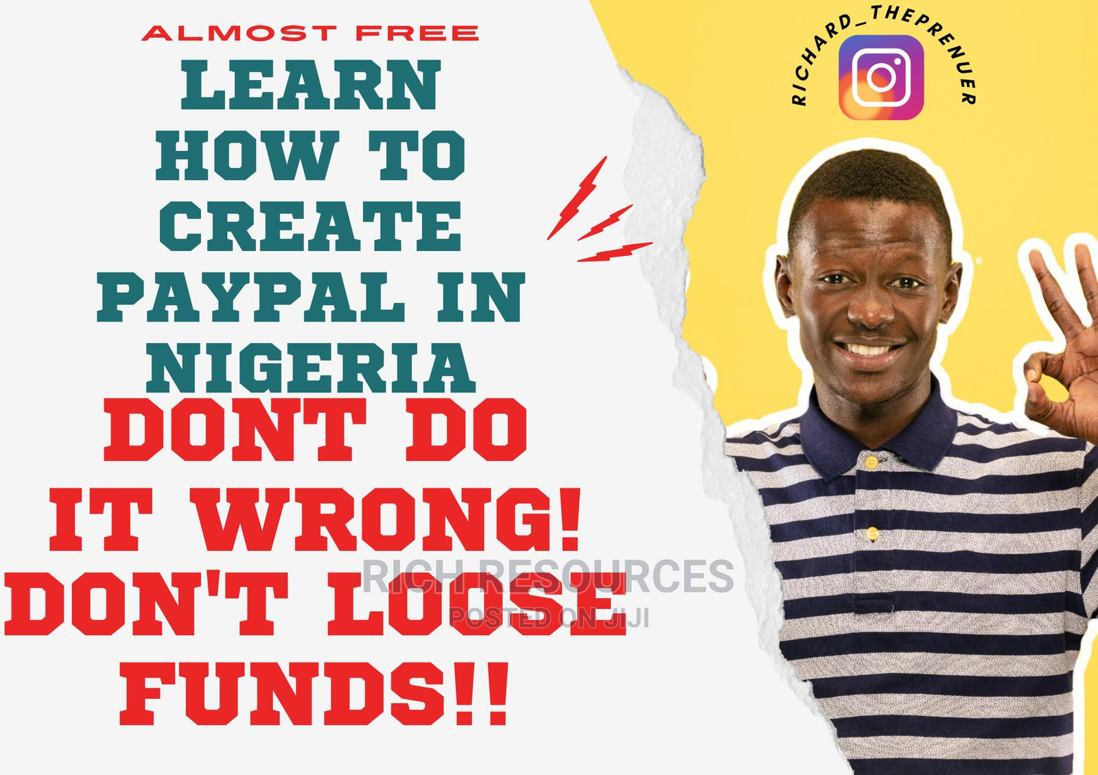Learn How To Create A Working Paypal In Nigerians