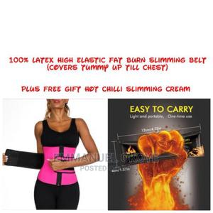 Tummy Waist Trainer/Fat Burn Slimming Belt + Hot Cream | Tools & Accessories for sale in Lagos State, Ikeja