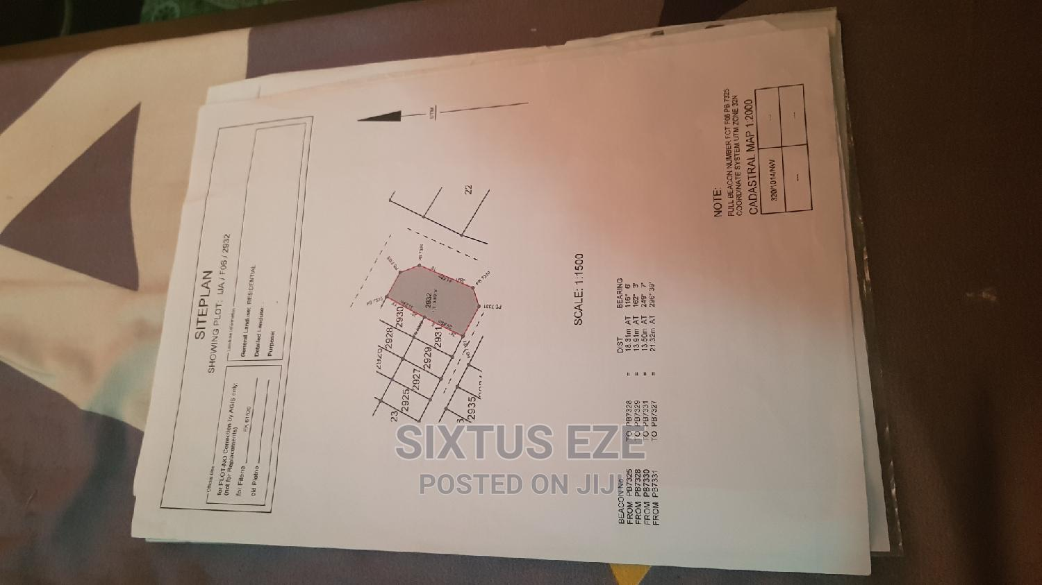 1,700sqm With R of O in Ija, FO6, Kubwa, Abj. | Land & Plots For Sale for sale in Kubwa, Abuja (FCT) State, Nigeria