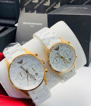 Emporior Armani White Couples Wristwatch   Watches for sale in Lagos State, Surulere