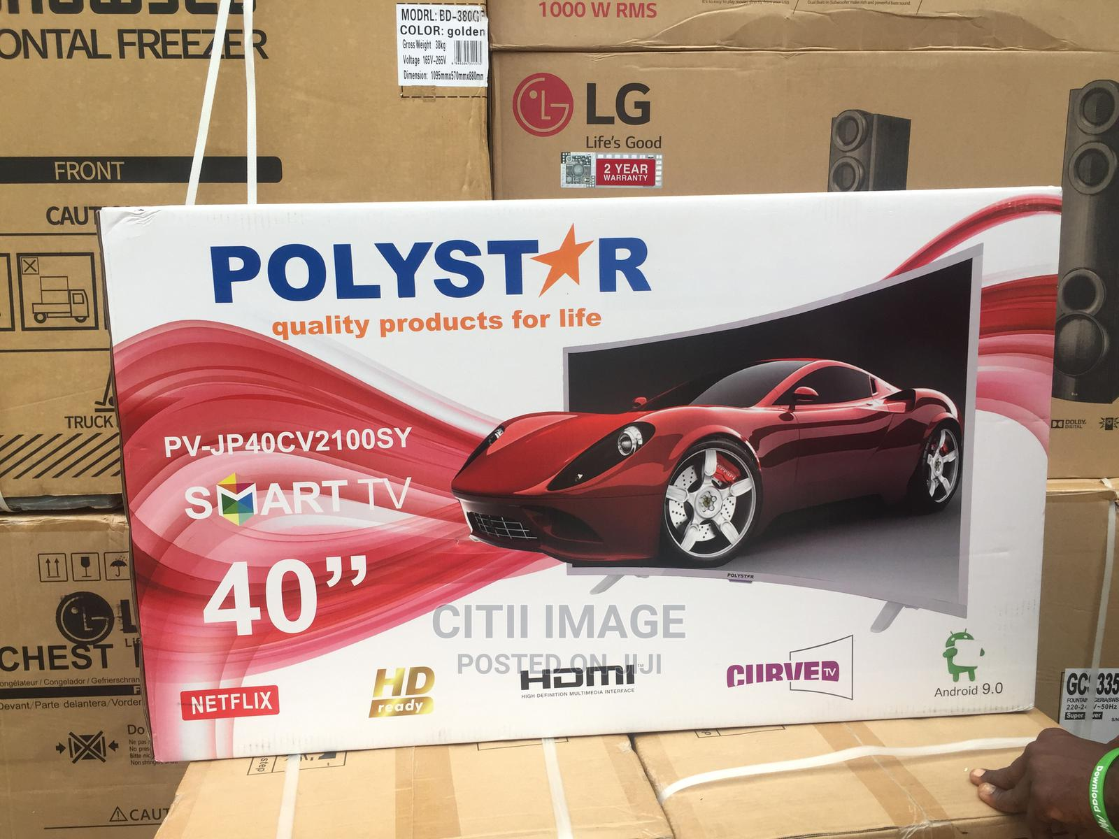 Archive: Polystar 40 Inches Smart Curved TV