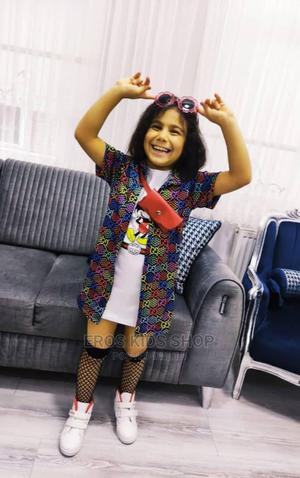 Gucci Shirt Dress Set for Girls | Children's Clothing for sale in Ondo State, Akure