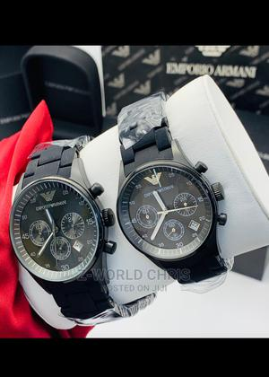 Emporior Armani Black Band Couples Wristwatch   Watches for sale in Lagos State, Surulere