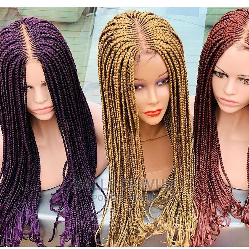 Archive: Purple, Blonde and Brown Braid Wig