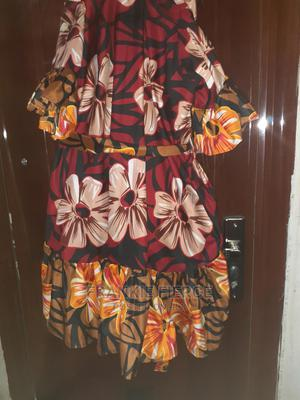 Red and Brown Floral Ankara! Size Free* | Clothing for sale in Rivers State, Port-Harcourt