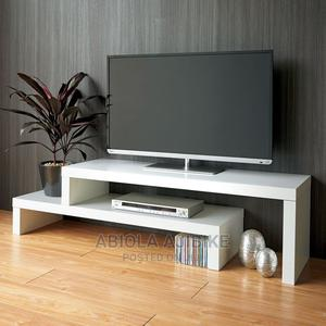 White Extendable Tv Stand   Furniture for sale in Lagos State, Amuwo-Odofin