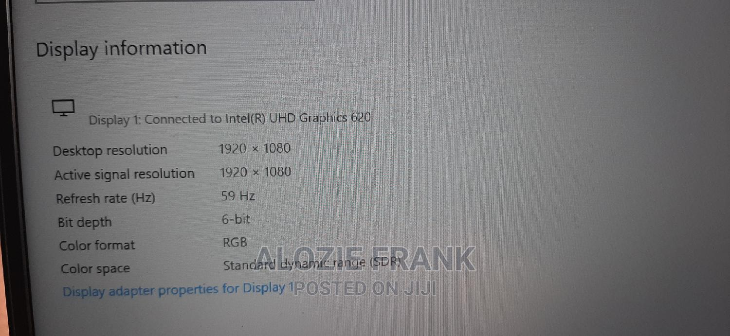 Laptop Dell 8GB Intel Core I5 SSD 256GB | Laptops & Computers for sale in Ikeja, Lagos State, Nigeria