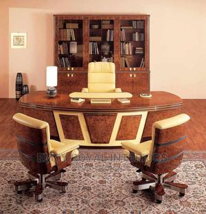 Quality Executive Office Table, Chair N Bookshelf   Furniture for sale in Abuja (FCT) State, Central Business Dis