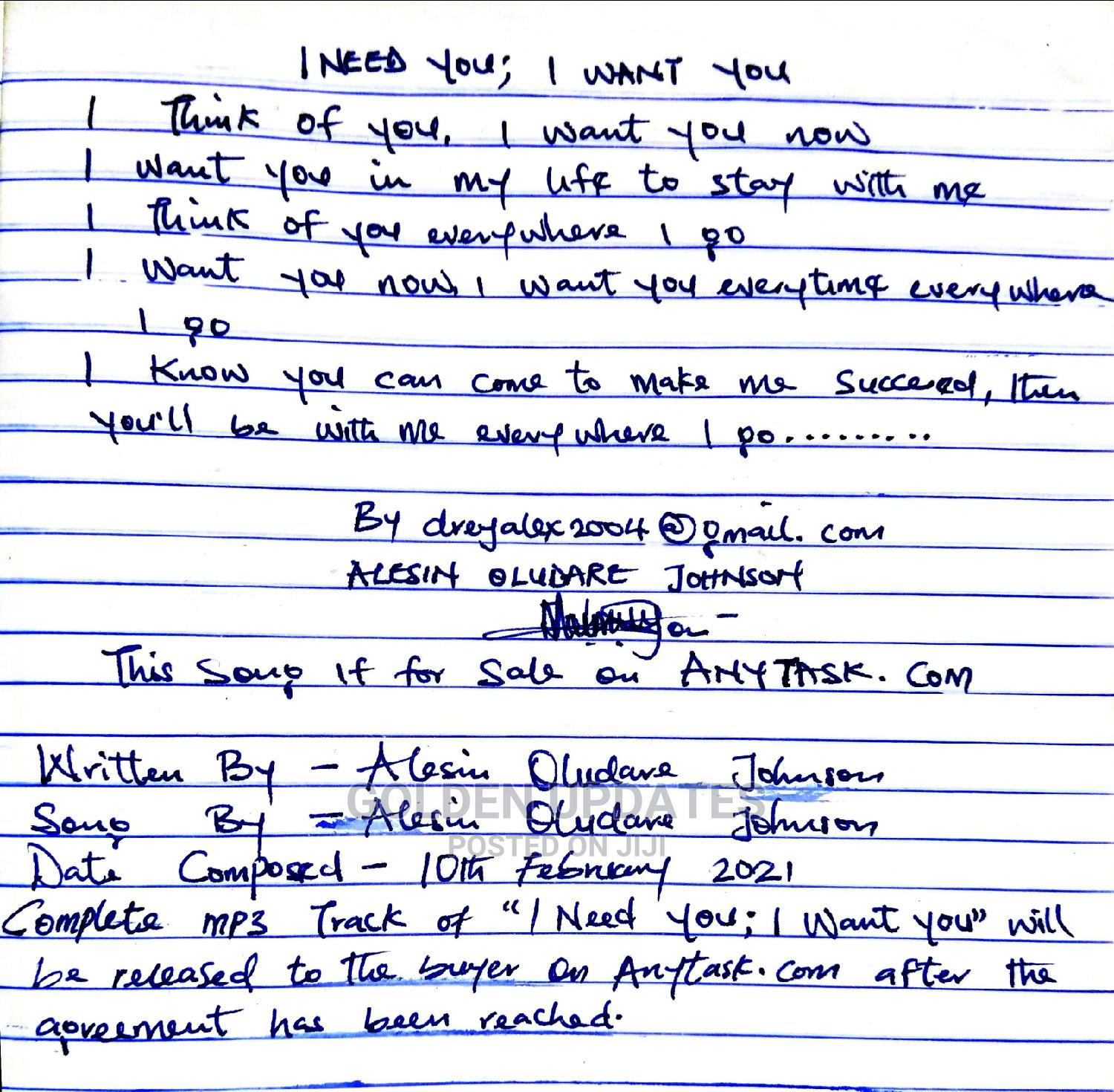 Customized Song Writing Customised Song for Special Ones