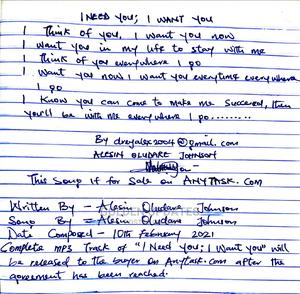 Customized Song Writing Customised Song for Special Ones | Other Services for sale in Delta State, Isoko