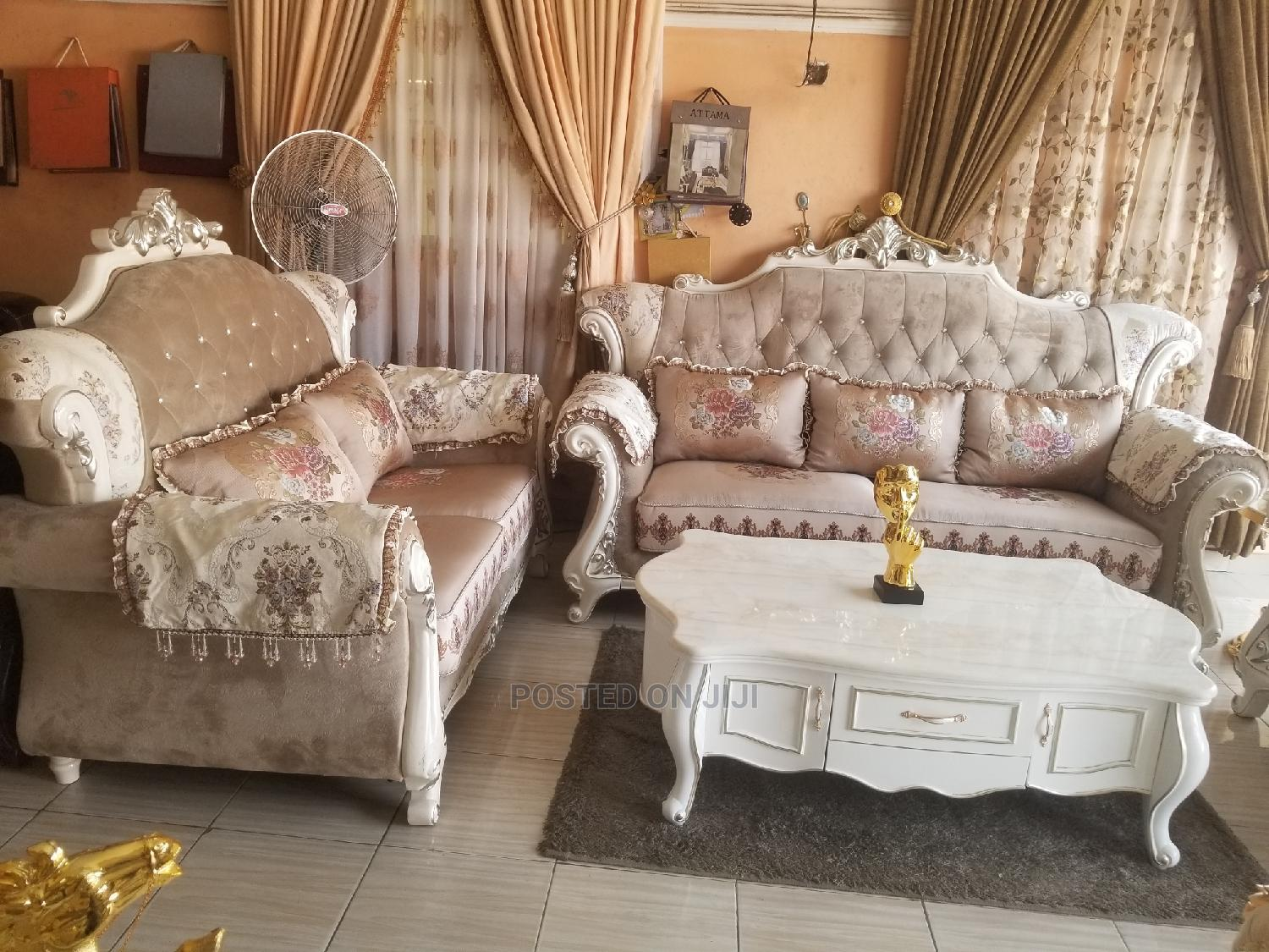 Imported 7seater Royal Fabric Sofa Chair Made in Turkey