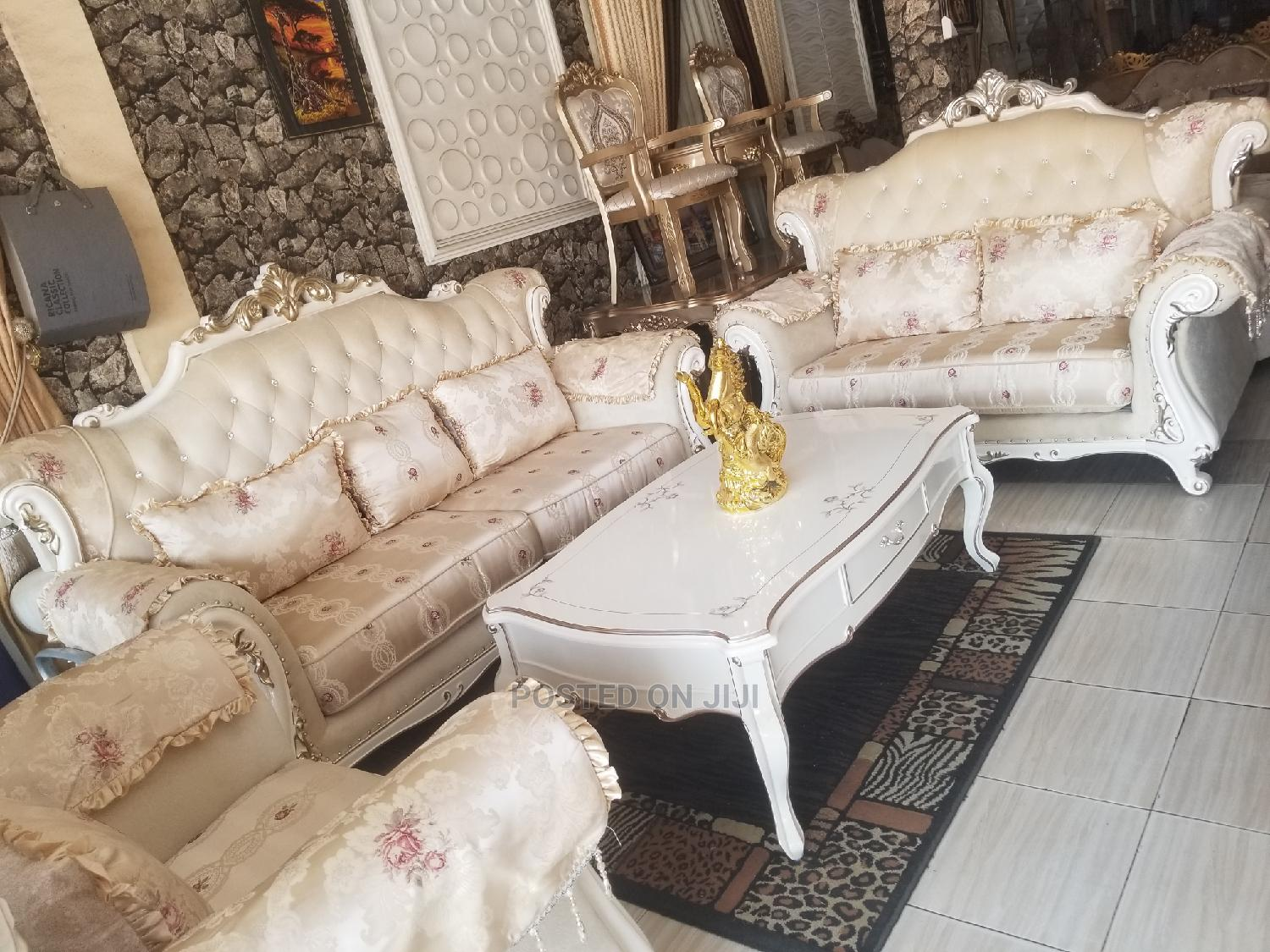 Imported 7seater Royal Fabric Sofa Chair Made in Turkey | Furniture for sale in Ojo, Lagos State, Nigeria