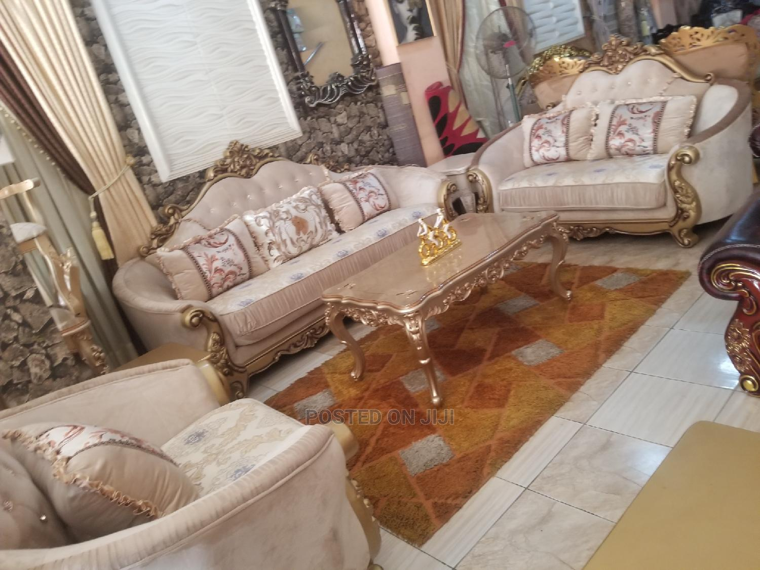 Imported 7seater Imported Turkey Royal Sofa Chair With Guara   Furniture for sale in Ojo, Lagos State, Nigeria
