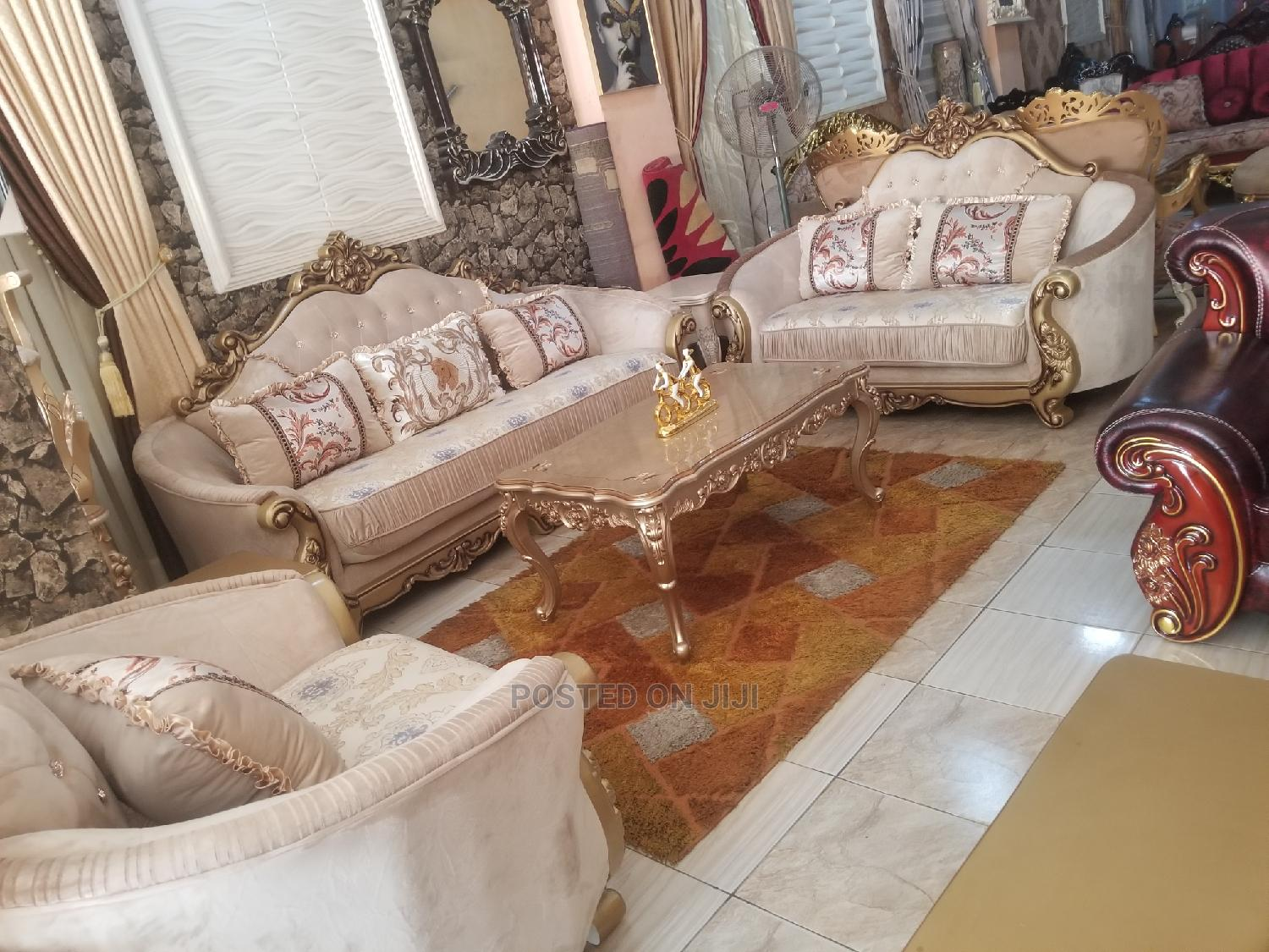 Imported 7seater Imported Turkey Royal Sofa Chair With Guara