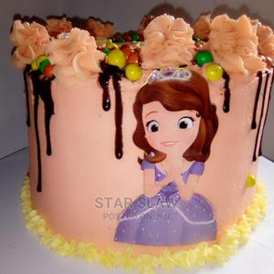 Tasty Sofia Chocolate+Vanilla Birthday Cake With Toppings   Meals & Drinks for sale in Lagos State, Alimosho