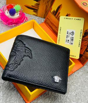 High Quality Versace Black Leather Wallet for Men | Bags for sale in Lagos State, Magodo
