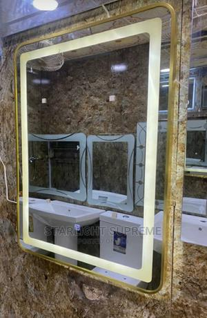 Golden LED Mirror   Home Accessories for sale in Lagos State, Orile