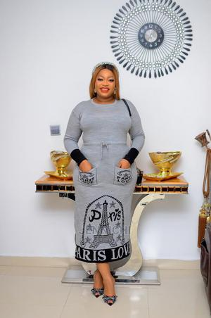 Chic Bodycon Dress (Grey)   Clothing for sale in Lagos State, Ikorodu