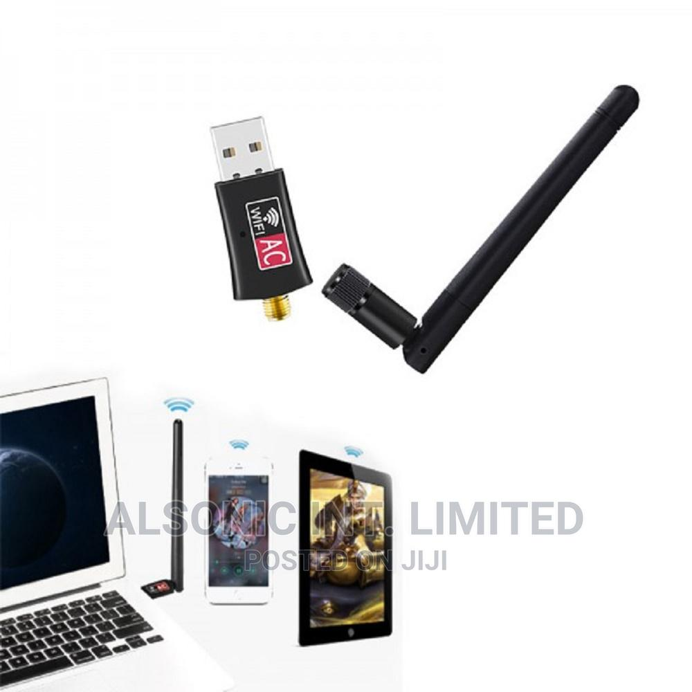 600mbps USB Wireless Wifi Adapter 2.4ghz 5ghz Wifi With Ante | Computer Accessories  for sale in Wuse, Abuja (FCT) State, Nigeria