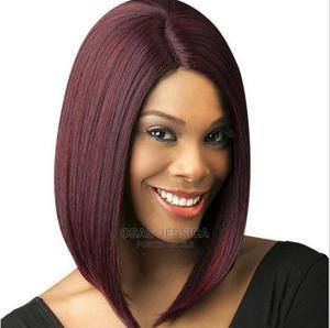 Women Bob Hair Wig - Red Wine and Black | Hair Beauty for sale in Lagos State, Ikorodu