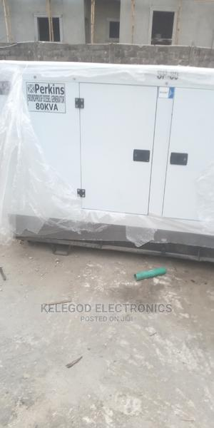 80kva Original Perkins Soundproof Diesel Generator   Electrical Equipment for sale in Lagos State, Mushin