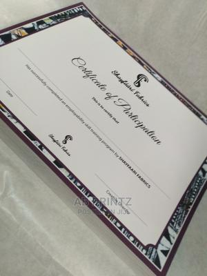 Certificate Print   Printing Services for sale in Lagos State, Shomolu