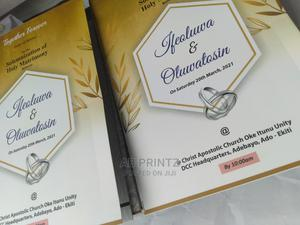 Quality Print Wedding Program | Wedding Venues & Services for sale in Lagos State, Ikeja