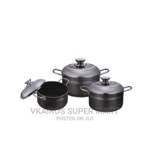 Master Chef 3pcs Non Stick Pots With Glass Cover | Kitchen & Dining for sale in Lagos State, Surulere